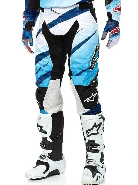 Pantalon Motocross Alpinestars 2016 Techstar Venom Bleu-Blanc-Bleu Fonce