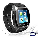 Smart Watch Bluetooth Smartwatch Smart Wrist Phone Watch Touch Screen Fitness Tracker Pedometer Sleep Monitor Sport Watch for All Android Phones Samsung Huawei Motorola Men Women Kids (Black) (Color: Black)