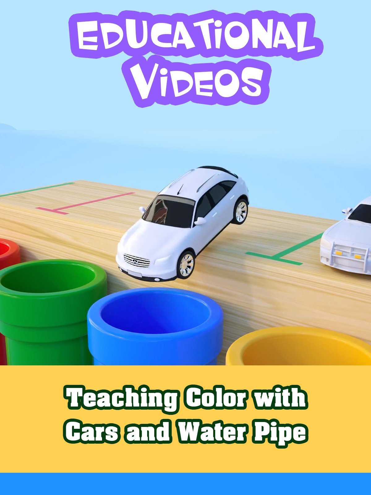 Teaching Color with Cars and Water Pipe