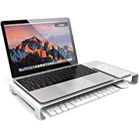 Jelly Comb Aluminum Unibody Stand with Keyboard Storage (Silver)