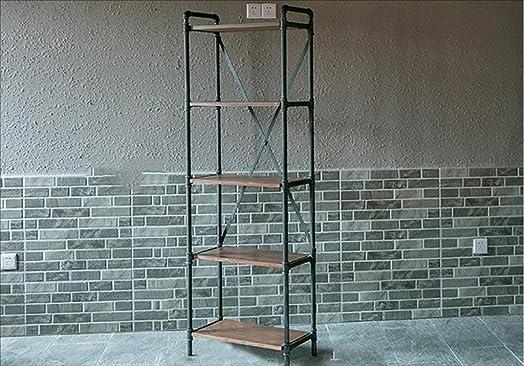 Book Jia librerie Scaffale per pavimenti retrò a più piani, scaffali, loft in ferro battuto industriale, scaffale per libri, scaffali di stoccaggio, tre tipi di opzioni di dimensioni librerie moderne ( dimensioni : 30*60*180cm )