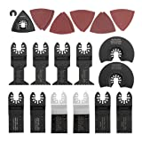 WORKPRO W124099A 23-Piece Oscillating Multitool Quick Release Accessory Kit For Cutting, Scraping, Sanding, Grinding
