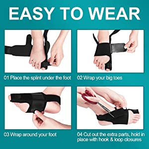 AVIDDA Bunion Corrector and Bunion Relief, Bunion Splint Big Toe Straightener Corrector Foot Pain Relief for Hallux Valgus Bunion Support Brace for Me