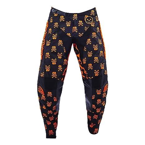 Pantalon Motocross Troy Lee Designs 2016 GP Anarchy Noir-Fluorescent Orange