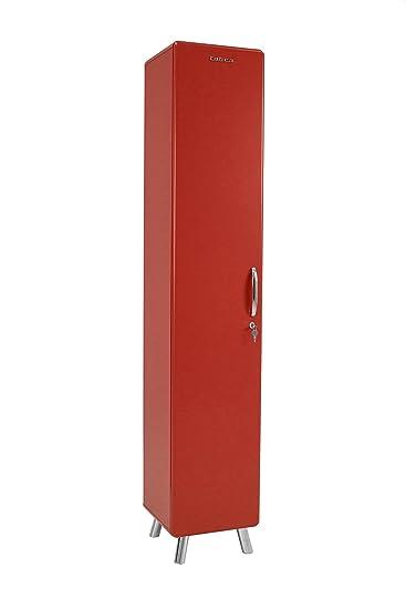Tenzo 4931-028 COBRA Designer Armoire haute Panneaux de particules/MDF Rouge 35 x 33 x 185 cm