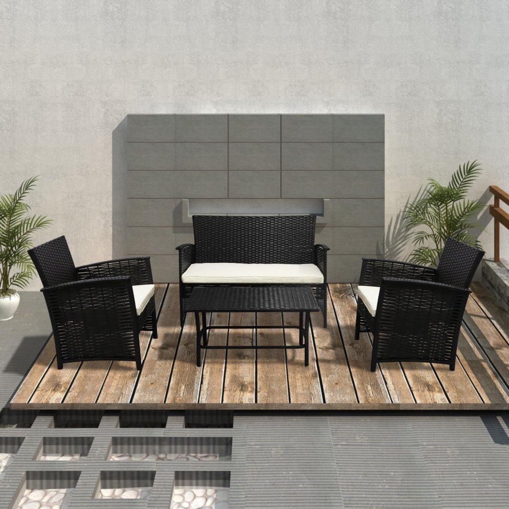 vidaXL Rattan Gartenmöbel Gartenset Sitzgruppe Gartengarnitur jetzt bestellen