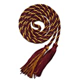 Graduation Honor Cord Two-Color Braided Grad Days (Maroon Gold) (Color: maroon gold)