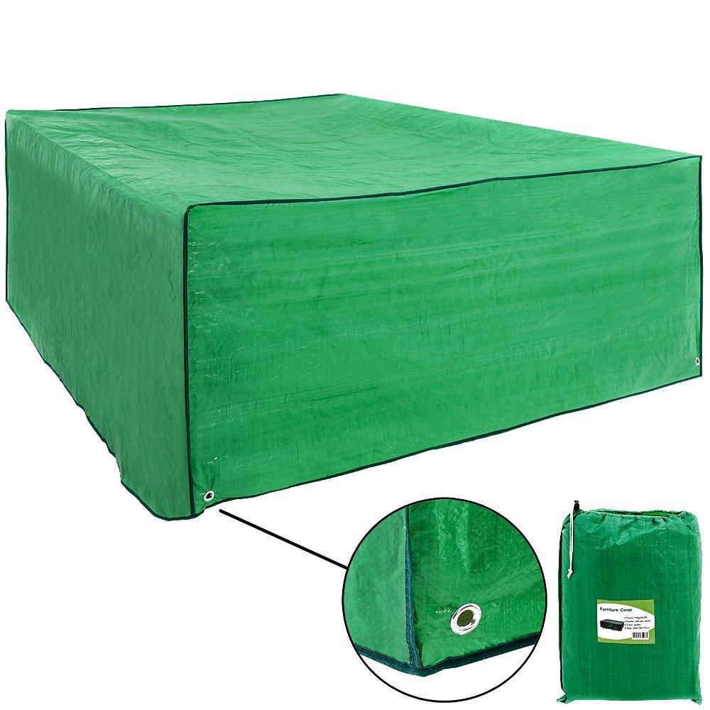 Gartenmöbel Schutzhülle Abdeckhaube Abdeckung Abdeckplane Plane Sitzgruppe - 200 x 160 x 70cm - grün