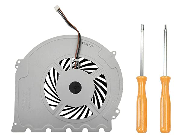 Replacement Internal Cooling Fan KSB0912HD Compatible with PlayStation 4 PS4 Slim CUH-2015A CUH-2016A CUH-2017A CUH-20xx CUH-21xx CUH-22xx Models + Tool Kit (Color: white)