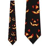 Jack-O-Lantern Tie Halloween Ties Pumpkin mens Necktie