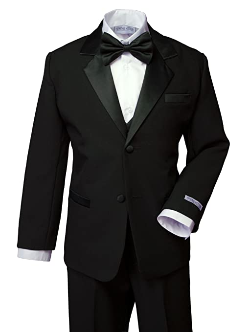 Spring Notion Boys' Classic Fit Tuxedo Set, No Tail 5 Black