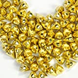 RUBYCA 1000 Sets 9MM Gold Color Bullet Cone Spike and Stud Metal Screw Back for DIY Leather-Craft (Color: Gold, Tamaño: 1000 PCS)