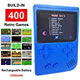 Mini Retro Handheld FC Games Consoles ,Built-in 400 Classic Game, Portable Gameboy 3 Inch LCD Screen TV Output ,Good Gifts for Kids Boys Girls Men Women (Games Consoles Blue) (Color: Games Consoles Blue)