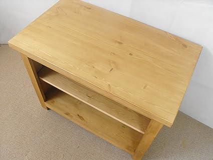 Mueble para televisor con madera de pino, con función de atril armario o, 1000 x 550 mm, gran mesa baja para el dormitorio o el