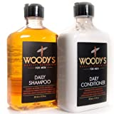 Woody's Quality Grooming for Men, Daily Shampoo & Conditioner (12 Ounce) (Tamaño: 12 Ounce)