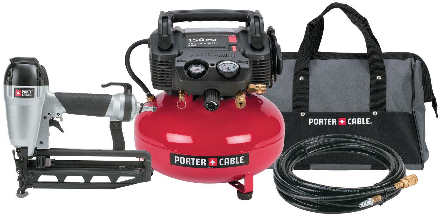 Porter Cable portable air compressor-use