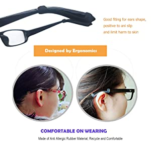 8fb62056a52 MOLDERP 6 Pairs Silicone Glasses Ear Hooks Sport Eyeglass Strap Holder Temple  Tips Spectacle Retainers