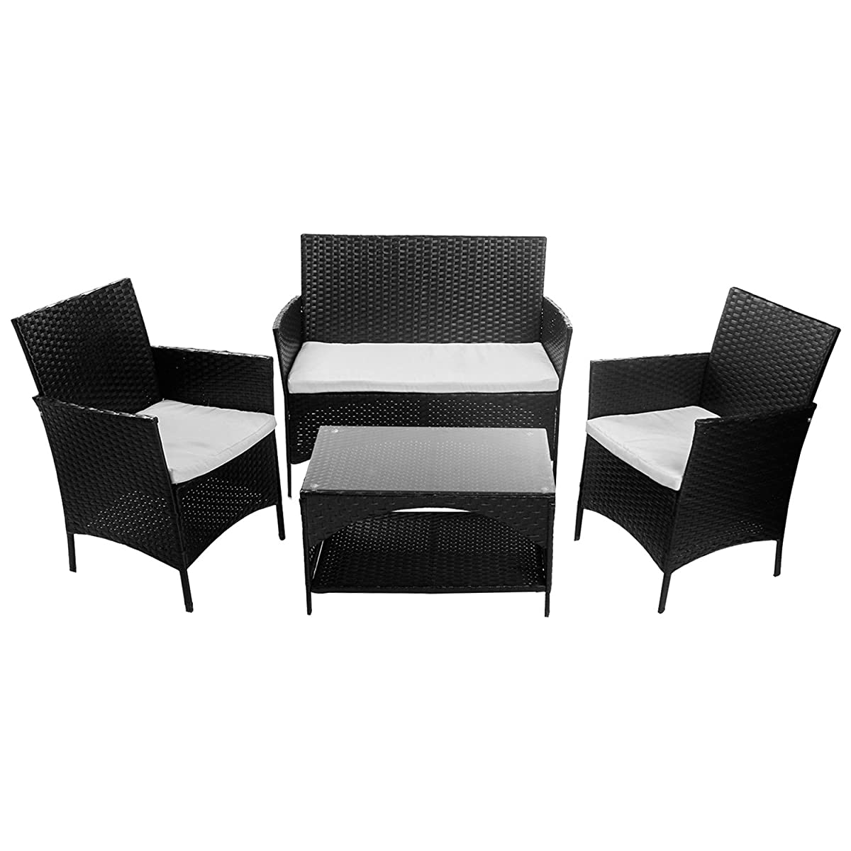 Superb Merax 4 Piece Outdoor Pe Rattan Wicker Sofa And Chairs Set Home Interior And Landscaping Ologienasavecom