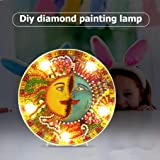 Diamond Painting Mandala Lamp with LED Lights DIY Special Shaped Full Drill Crystal Diamond Drawing Bedside Lamp for Home Decoration or Gifts-6.0x6.0inch (Human face Double face) (Color: Human face Double face)