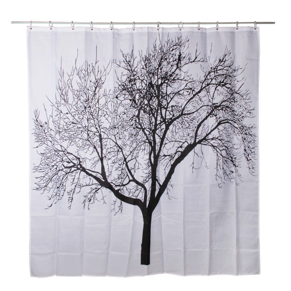 Waterproof Bathroom Fabric Shower Curtain, Tree Design, Free Shipping ...