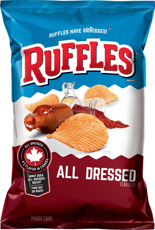 Ruffles All Dressed Ridged Potato Chips, 8.5 Ounce