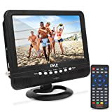 9 Inch Portable Widescreen TV - Smart Rechargeable Battery Wireless Car Digital Video Tuner, 800x480p TFT LCD Monitor Screen w/ Dual Stereo Speakers, USB, Antenna, Remote, RCA Cable - Pyle PLTV9553 (Color: Black, Tamaño: 9 inches)
