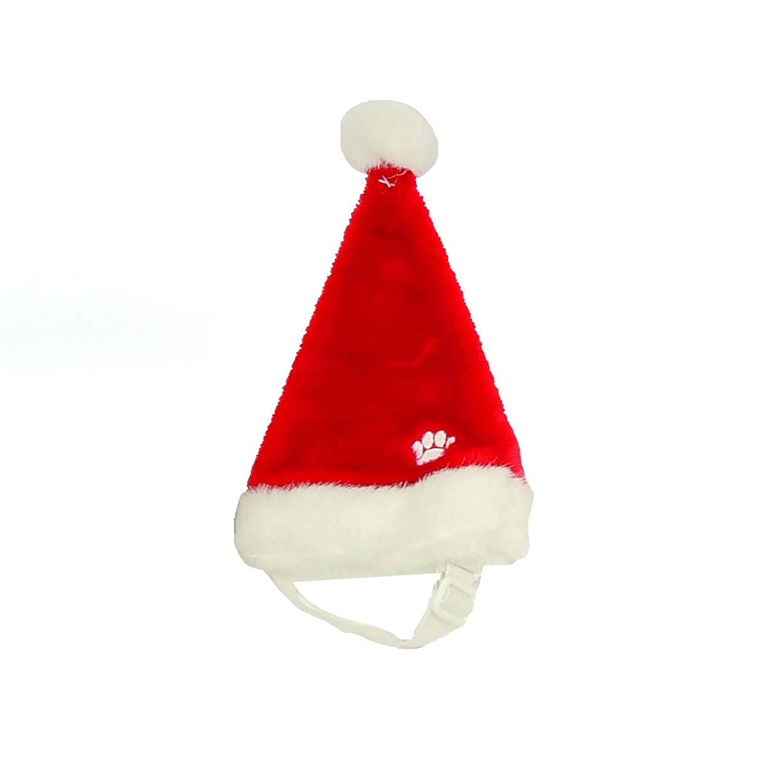 Outward Hound Dog Santa Hat Holiday and Christmas Pet Accessory, Red