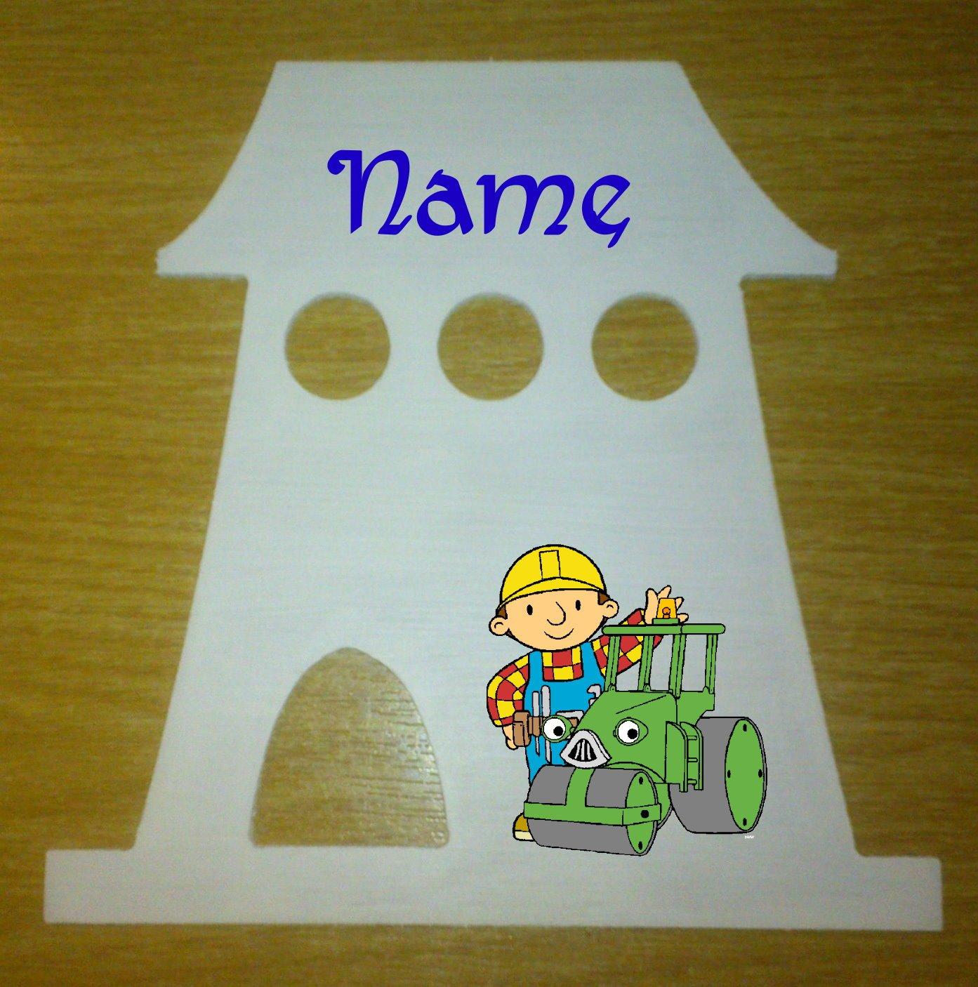 Bob der Baumeister Dekoschild Häuschen mit persönlichem Namen bestellen