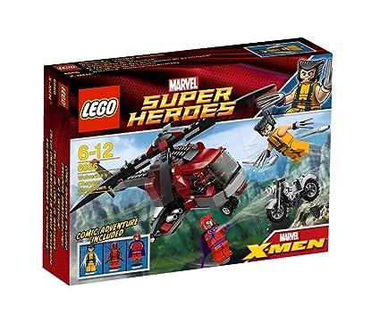 LEGO Super Heroes - 6866 - Jeu de Construction - L'Hélicoptère de Wolverine