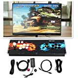 HIOFFER Ultra Slim Metal Double Joystick and Buttons Arcade Game Console - 2 Players Game Console Pandora's Box 5S Plus 1299 Classic Games Support Windows PC & TV VGA HDMI Output with Pause Function