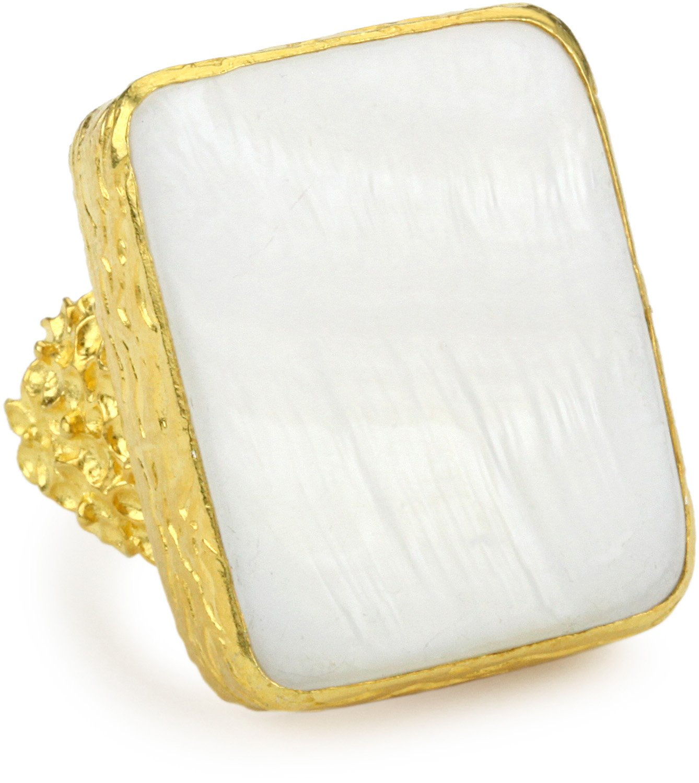 Azaara Hot Rocks Mother-of-Pearl Ring