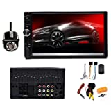 Double Din 2Din Car Stereo with Backup Camera, 7