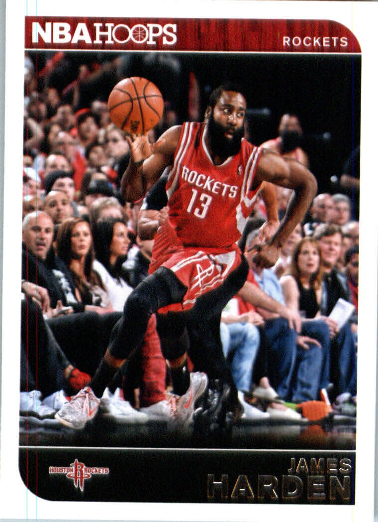 2014 /15 Panini Hoops Basketball Card # 182 James Harden Houston Rockets IN PROTECTIVE SCREWDOWN DISPLAY CASE drew brees new orleans saints 2009 topps mayo football card 80 nfl trading card in screwdown case