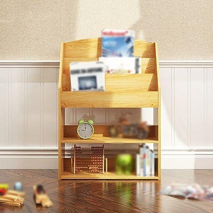 HJHY® Libreria da tavolo 62.4 (lunga) * 24 (larghezza) * 89 (alta) Cm Scaffale per la camera da letto della libreria Soggiorno Creative Cut Off Pink Blue Comodo spazio di archiviazione ( Colore : #1 )