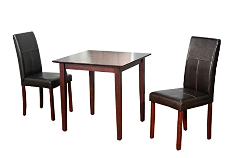 TMS Bettega Parson Dining Set, 3-Piece, Espresso
