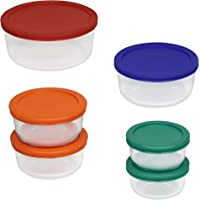 Pyrex 12 Piece Simply Store Set with Colored Lids