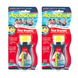 AquaChek 521253-02 Red Total Bromine Test Strips (2 Pack) (Color: Yellow, Tamaño: 2-Pack)