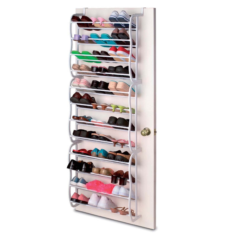 Oypla White 12 Tier Door Hanging Shoe Rack Organiser - Holds 72 Shoes