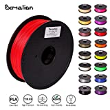 Pxmalion PLA 3D Filament, Red, 1.75mm, Accuracy +/- 0.03mm, Net Weight 1KG(2.2LB), Compatible with most 3D Printer & 3D Printing Pen