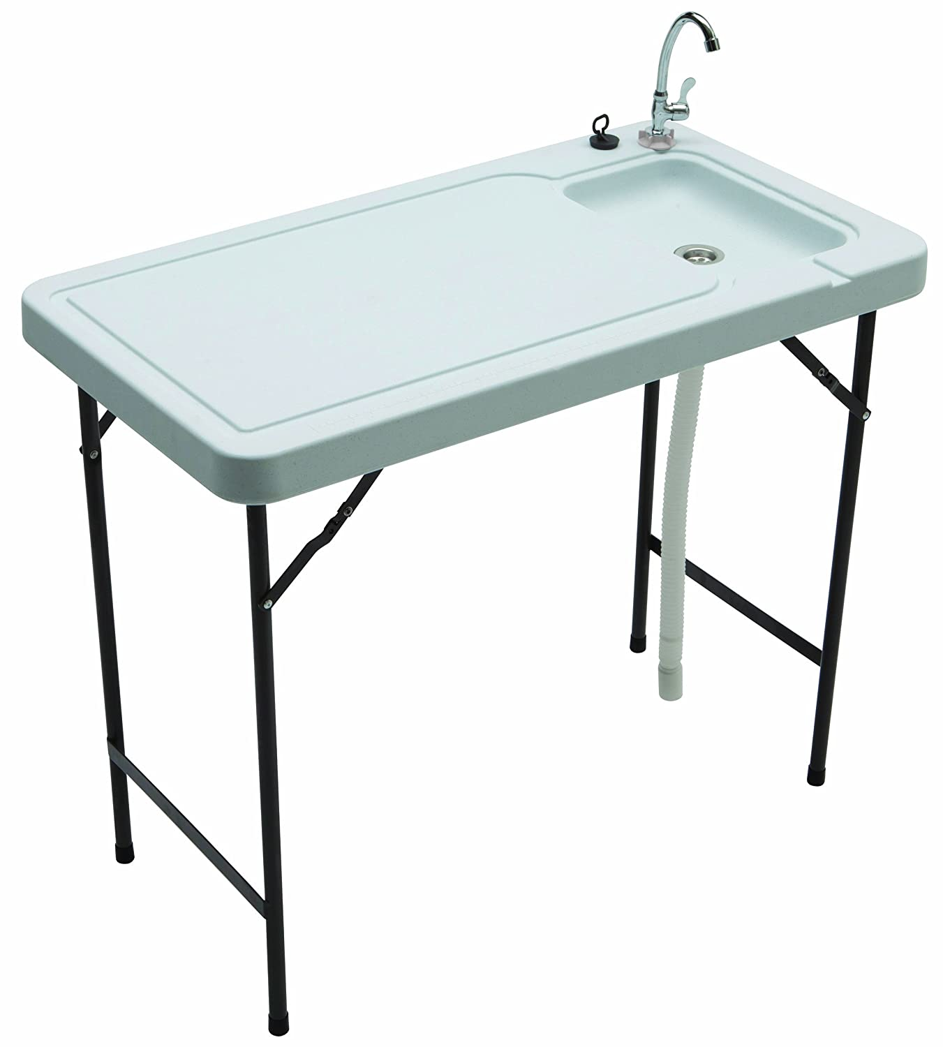 Portable Stainless Steel Sink : Outdoor Sink Stainless Steel Faucet Portable Utility Garden Fishing ...