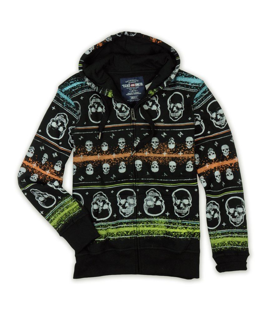 Marc Ecko Men's Group Skull Print Hooded Sweatshirt