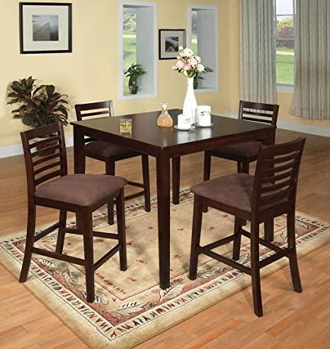 Original 5 Pc. Counter Ht. Table Set Transitional Style