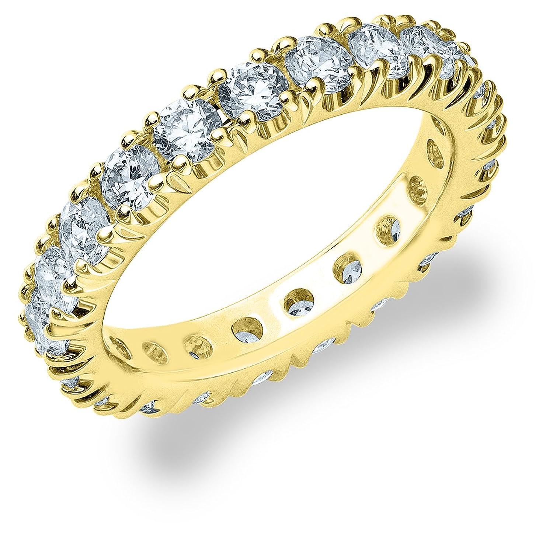 Yellow Gold Diamond 4-Prong Eternity Band