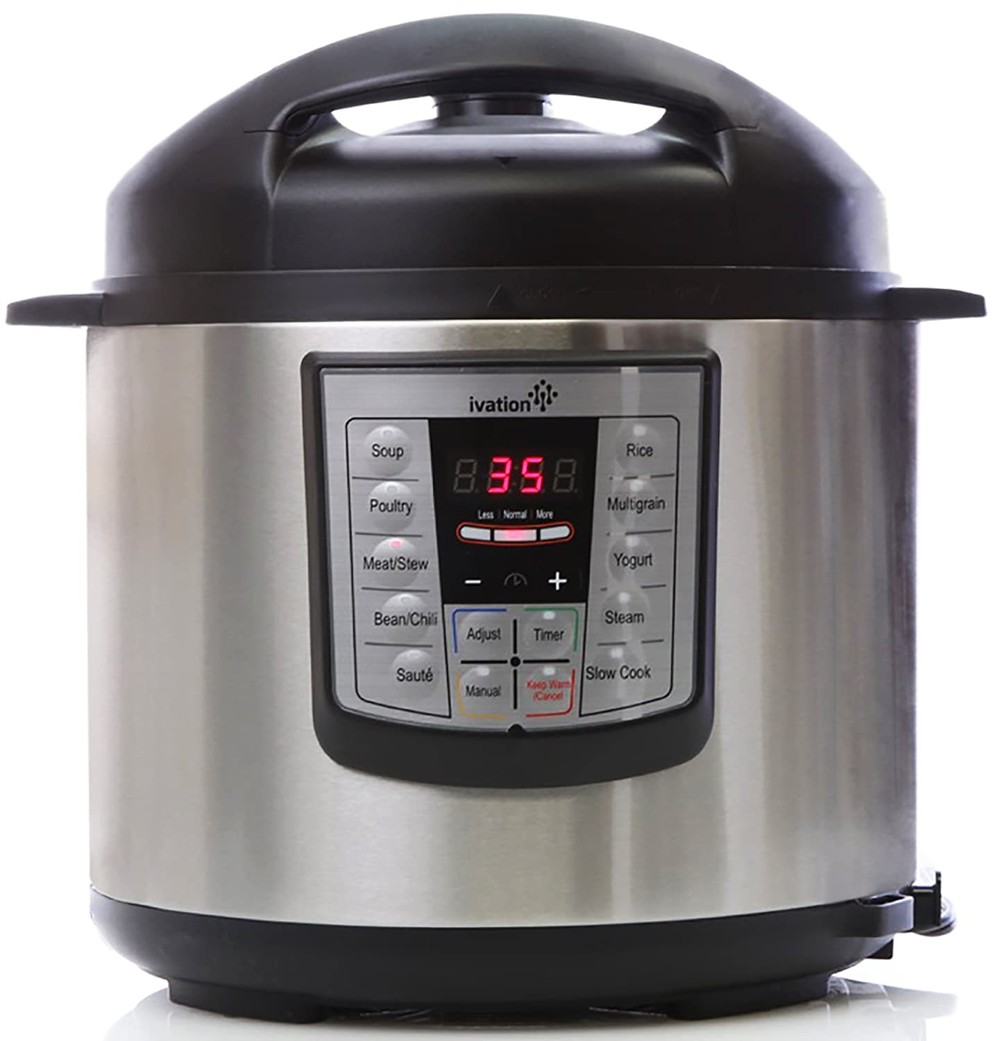 Ivation 7-In-1 Programmable Multi-Function Electric Pressure Cooker; Steamer, Slow Cooker, Rice Cooker; High Grade Stainless Steel 6.3Q Inner Pot; 11 Preset Cooking Styles; 1000W Power