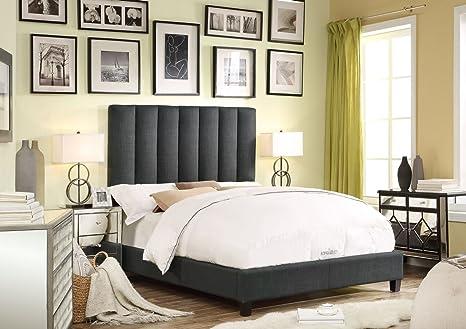 Millbury Home Isabel Charcoal Upholstery Platform Bed