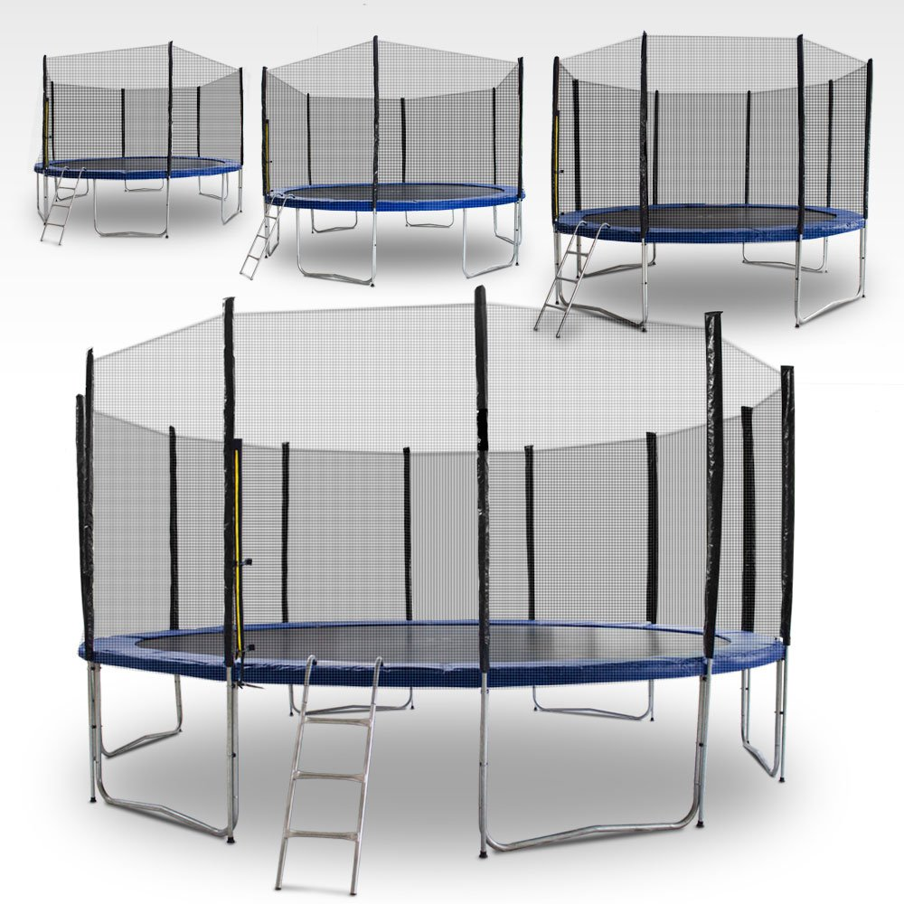 Gartentrampoline Trampoline Outdoor-Trampoline Fitness-Trampoline 185cm bis 490cm , inkl. Sicherheitsnetz, Leiter und Abdeckplane jetzt kaufen