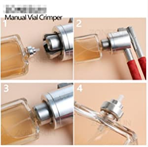 WellieSTR 1 Piece Manual Crimping Tool for Perfume Bottles, Spray Bottle Capping Machine, 13mm Perfume Bottle Capping Machine (13mm perfume bottle) (Tamaño: 13mm perfume bottle)