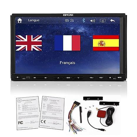 Nouvelle marque GPS Navigation HD double 2DIN stéréo Lecteur DVD de voiture Dash Baseline Connect 8K Radio lecteur audio vidéo Bluetooth mp3ipod PC