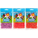 Perler Bead Bag 1000, 3-Pack - Orchid, Tomato, & Spice (Color: Orchid, Tomato, Spice)