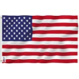 Anley Fly Breeze 3x5 Foot American US Polyester Flag - Vivid Color and UV Fade Resistant - Canvas Header and Double Stitched - USA Flags with Brass Grommets 3 X 5 Feet (Color: Fly Breeze)